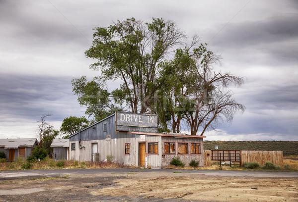Desolate Drive In Motel Stock photo © searagen
