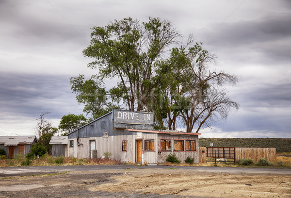 Drive motel oude restaurant hoog Stockfoto © searagen