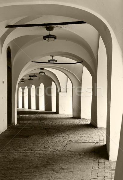 Corridor With Arches Stock photo © searagen