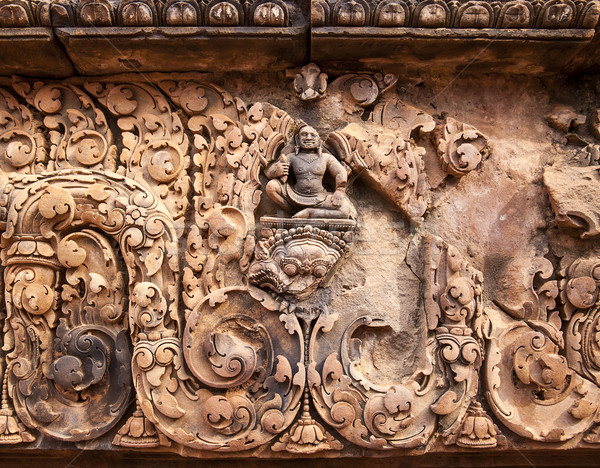 Buddha at Banteay Srei Temple Stock photo © searagen