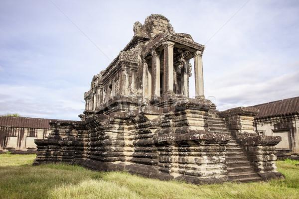 Biblioteca edifício Angkor Wat um edifícios primeiro Foto stock © searagen