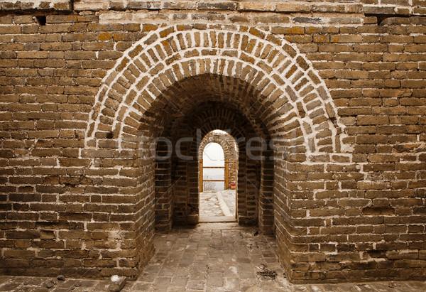 Great wall Cina architettonico dettagli view guardando Foto d'archivio © searagen