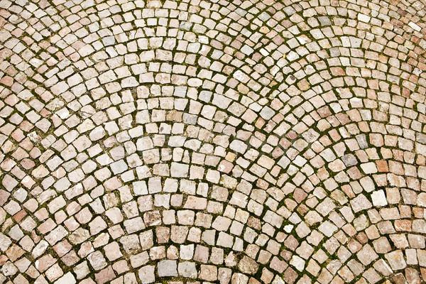 Cobblestone Pattern On Czech Street Stock photo © searagen