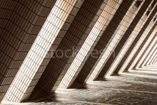 átló építészeti absztrakt kívül kulturális központ Stock fotó © searagen