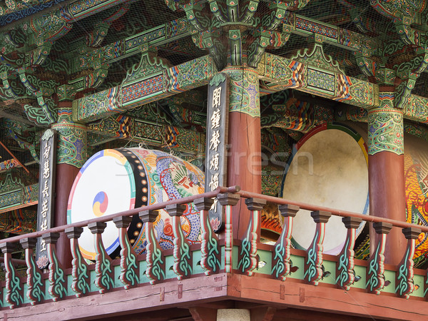 Bateria budista templo dois enorme Seul Foto stock © searagen