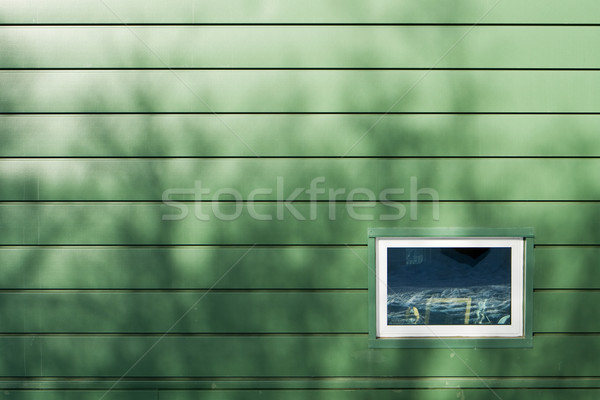 Window On Green Wall Stock photo © searagen