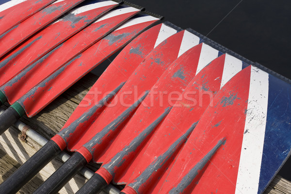 Oars At Crew Race Stock photo © searagen