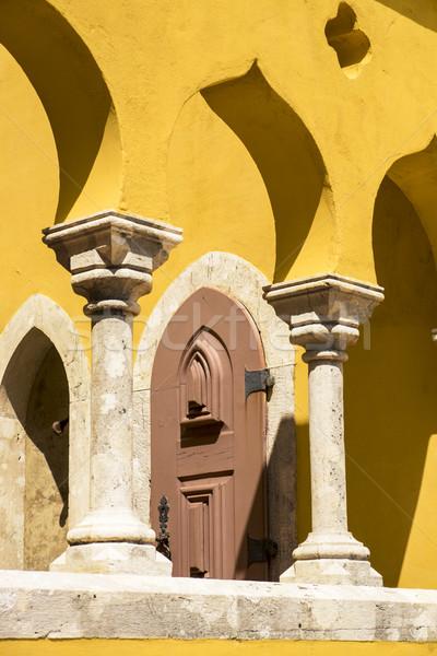 архитектура подробность небольшой дворец Португалия Сток-фото © searagen