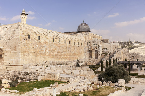 Temple Mount and Al-Aqsa Mosque Stock photo © searagen