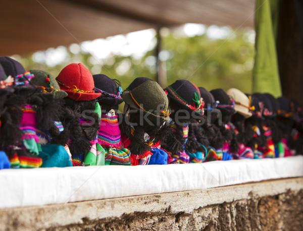 Rij poppen Maakt een reservekopie traditioneel typisch Stockfoto © searagen