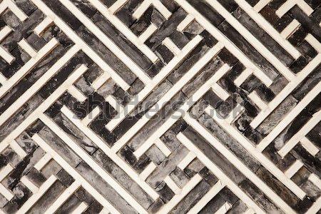 Mértani fal minta adag geometrikus minta dekoráció Stock fotó © searagen