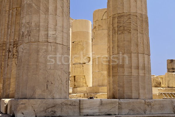 Glowing Pillars Of The Parthenon Stock photo © searagen