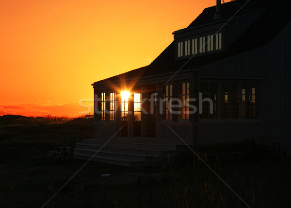 Vacation Home Sunset Stock photo © searagen