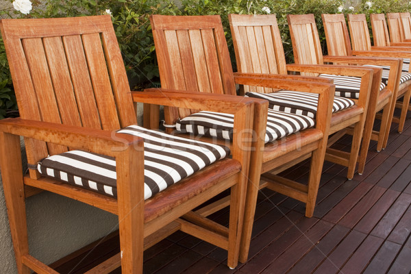 Wooden Chairs On Deck Stock photo © searagen