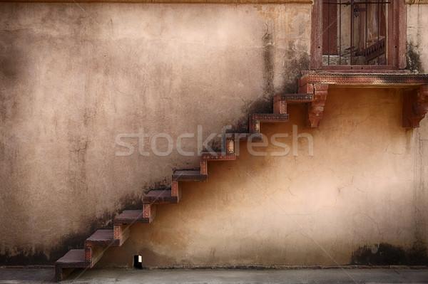 лестницы один лестница красный песчаник балкона Сток-фото © searagen