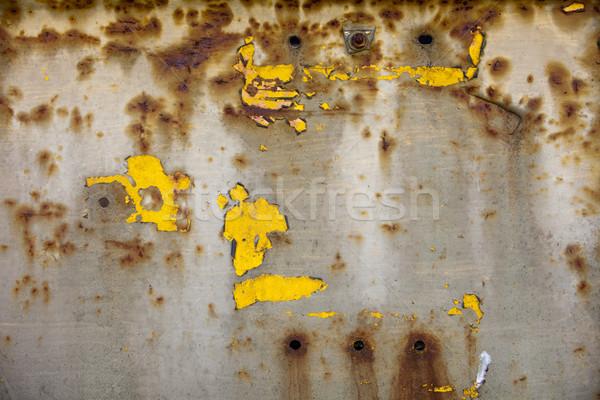 Festék rozsda minták minta viharvert citromsárga Stock fotó © searagen