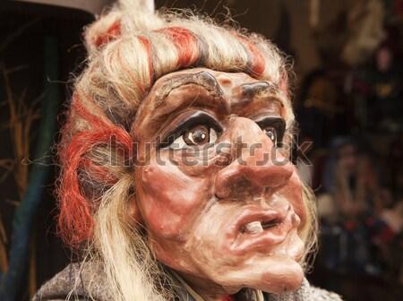 Traditionnel tchèque sorcière marionnette dents Photo stock © searagen