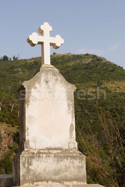 Cross and Headstone Stock photo © searagen