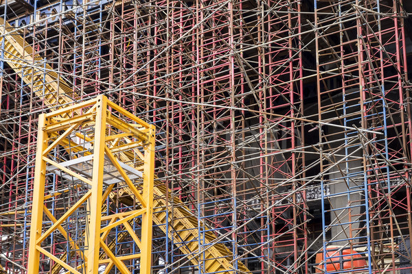 Scaffold Structure At Construction Site Stock photo © searagen