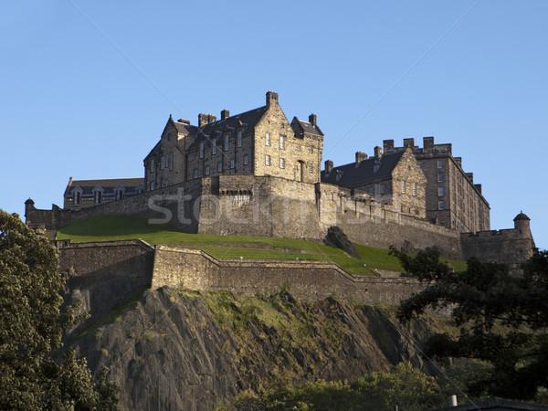Zdjęcia stock: Edinburgh · zamek · widoku · poniżej