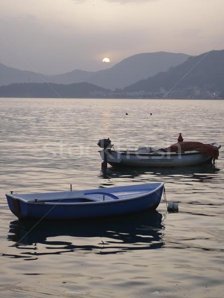 Fishing Boats At Sunset Stock photo © searagen