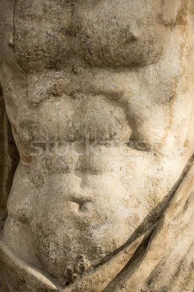 Marmer standbeeld mannelijke torso klein detail Stockfoto © searagen