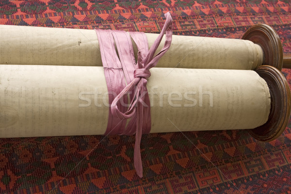 Torah Scroll With Ribbon Stock photo © searagen