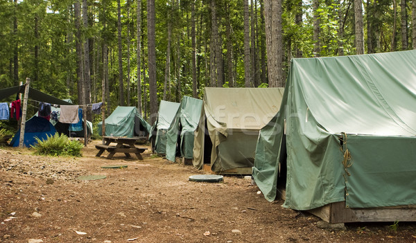 Boy Scout Campground Stock photo © searagen