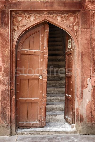 Giriş davul ev merdiven yaşayan Stok fotoğraf © searagen