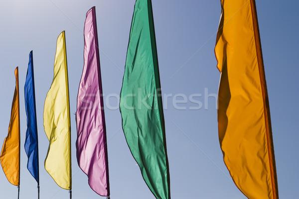 Banners vento blue sky Foto stock © searagen