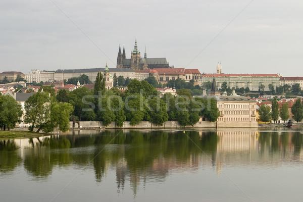 Prague Castle With River Stock photo © searagen