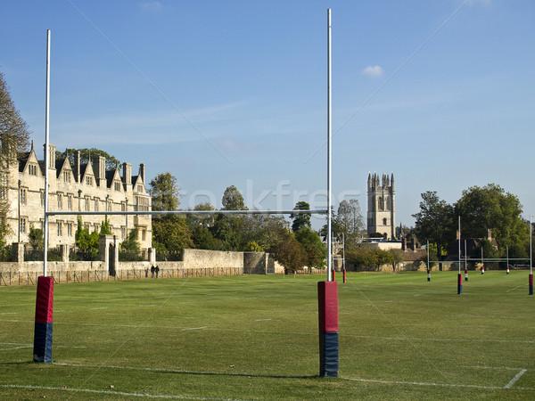 Rugby alanları oxford Mesih kilise yeşil Stok fotoğraf © searagen