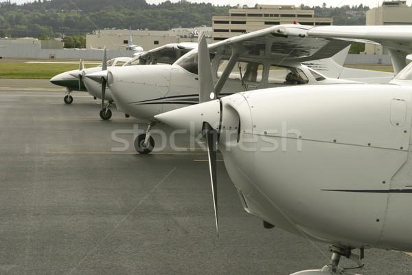 Uçuş hat yukarı okul havaalanı Stok fotoğraf © searagen
