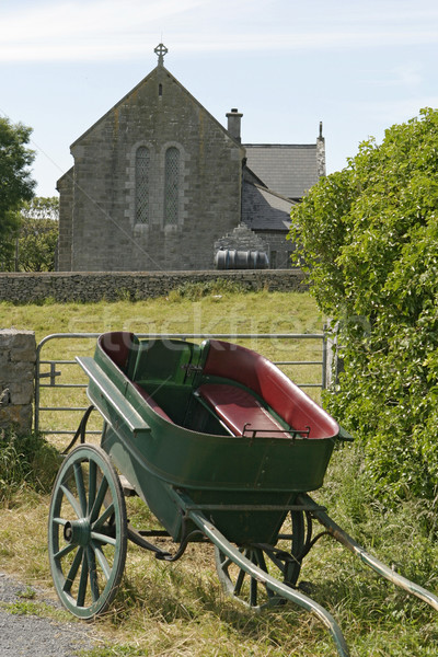 Horse Carriage and Church Stock photo © searagen