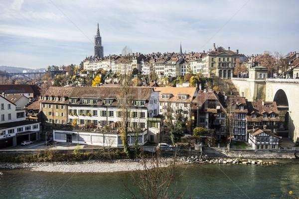 Foto stock: Cityscape · pitoresco · cidade · rio · Suíça · ponte