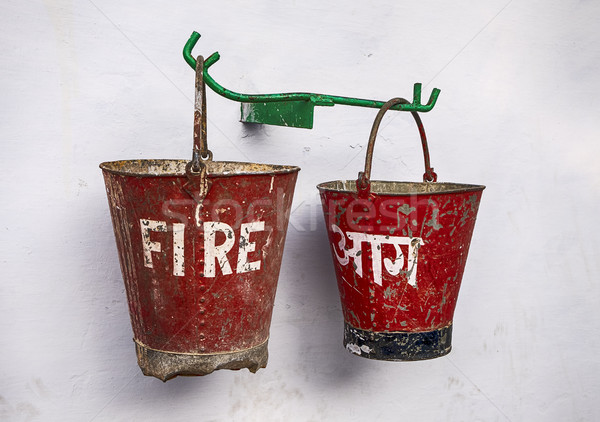 Two Fire Buckets Stock photo © searagen