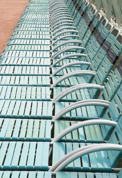 Sok fedélzet székek több harminc felfelé Stock fotó © searagen