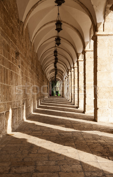 Corridor On Temple Mount Stock photo © searagen