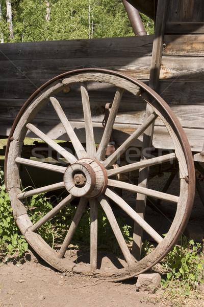 Antique Wagon Wheel Stock photo © searagen