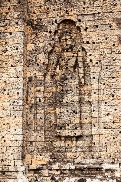 Chiffre mur niche Homme briques Photo stock © searagen