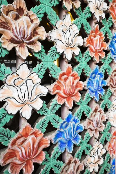 окна экране цветы окрашенный Сток-фото © searagen
