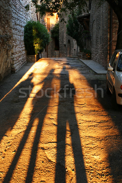 Long Shadows in Assisi Stock photo © searagen