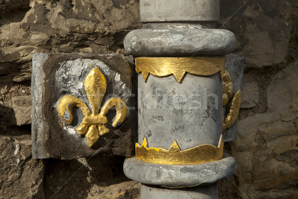 Edinburgh kasteel detail oude drain pijp Stockfoto © searagen