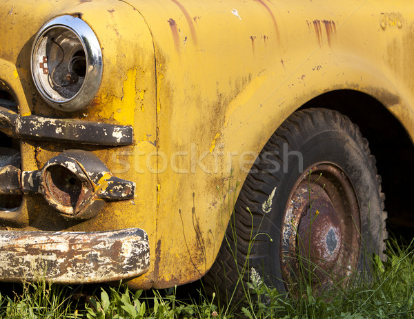 Rusting Yellow Truck Detail Stock photo © searagen