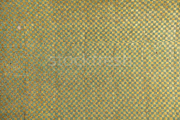 Verde ouro telha padrão azulejos Foto stock © searagen