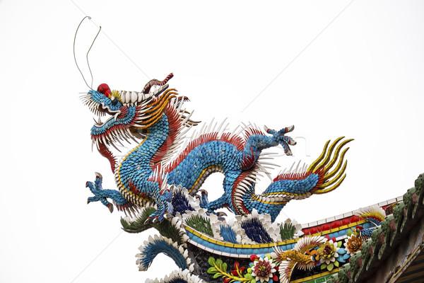 Tradicional dragão chinês arquitetônico telhado Foto stock © searagen