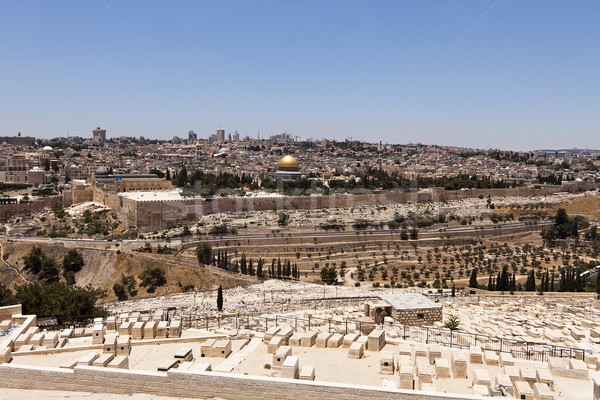 Jerusalém ver cemitério cityscape velho cidade Foto stock © searagen
