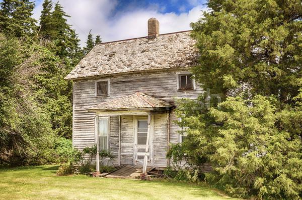Old Iowa Farmhouse Stock photo © searagen