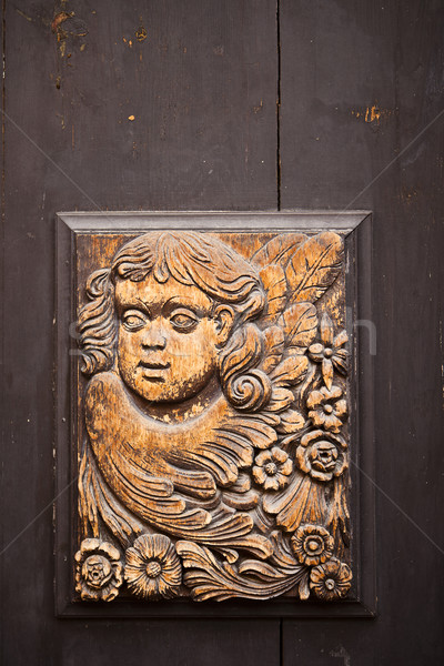 Czech Carving On Door Stock photo © searagen