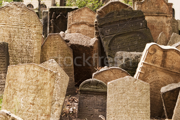 Headstones in Jewish Graveyard Stock photo © searagen